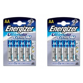 Energizer® Ultimate Lithium™ batteries - 8 AA
