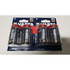 Pack de 4 piles D VARTA-LONGLIFE